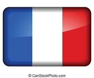 french flag icon - Vector illustration of french flag icon...