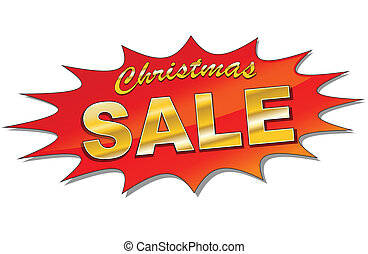 Christmas sale - Illustration of vector star for christmas...