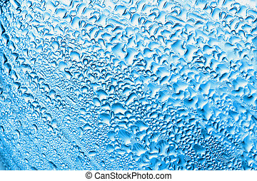 Drop of water on a white background...