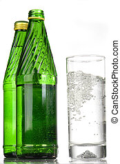 Mineral water on a white background...