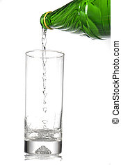Mineral water - Mineral water on a white background...