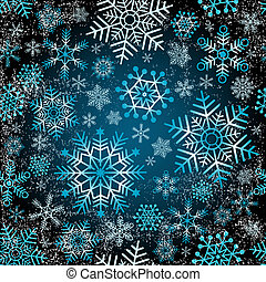 Seamless christmas grunge pattern with snowflakes vector eps...