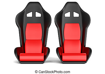 Sport car leather seats