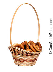 cesta, seco, bread-ring