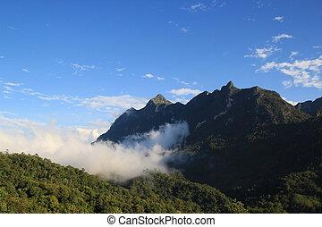 Mountain range in Chiang Mai, Thailand ( Doi Luang, Chiang...
