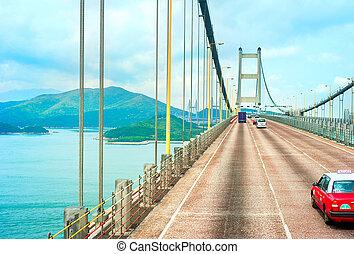 Tsing Ma bridge - Famous Tsing Ma bridge in Hong Kong