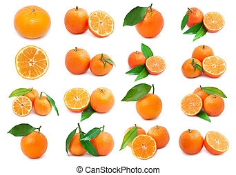Mandarins - Collection of juicy tangerines or mandarins...