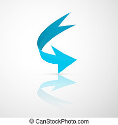Blue Abstract 3d Arrow Icon