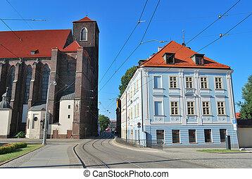 Beautiful street in Wroclaw