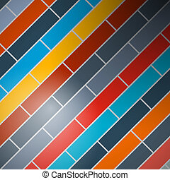 Abstract vector background - colorful rectangles