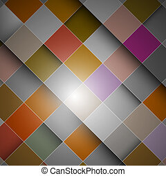 Abstract retro vector background - colorful squares