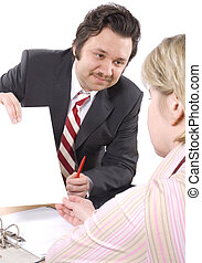 Insurance Agent  - Woman  talking to Insurance Agent