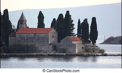 Saint George island, monastery - Saint George island, close,...