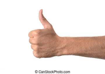 hand thumbs up sign