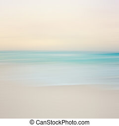 An abstract sea seascape with blurred panning motion