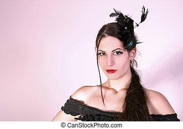 Beautiful fashion model - portrait of beautiful fashion...