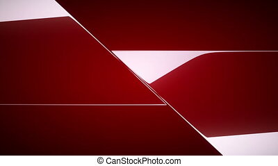 Red diagonal leafs or folds opening with Alpha Rewind to...