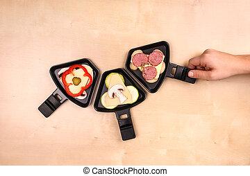 Raclette Pfnnchen - Drei Raclette Pfnnchen
