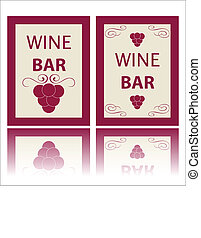 Wine labels - New wine labels on a white background