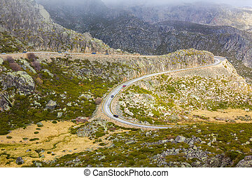 Mountain road, Serra Estrela, Portugal - Mountain road Serra...