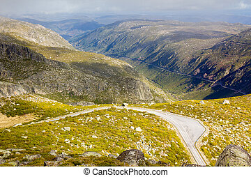 Mountain road from Serra Estrela, Portugal - Mountain road...