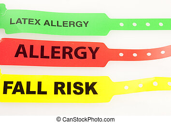 Three Patent Bracelets - Latex Allergy,Allergy, And Fall...
