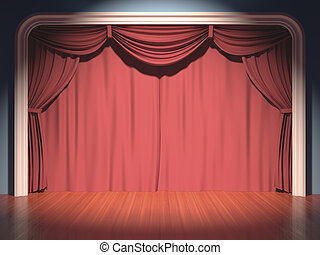 Stage Theater - Stage theater, your text in the center of...