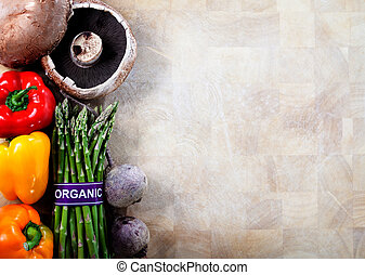 Organic Vegetables Background - Organic Vegetables on...