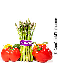 Organic Asparagus and Bell Peppers - Asparagus and Bell...
