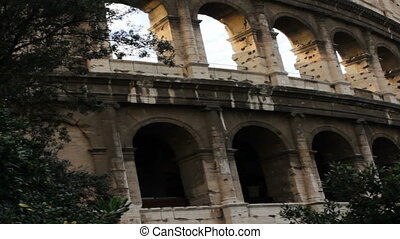 Detail of Roman Coliseum Facade - Facade of Roman Coliseum...
