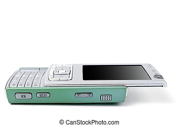 Green-blue smartphone - Green-blue opened smartphone