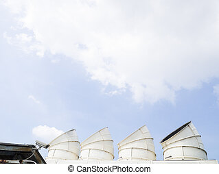 cooling tower hood - set of cooling tower hood