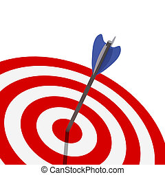 classic target 3d with arrow metaphoric success background