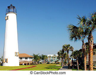 St George Light on the island of St George, Florida