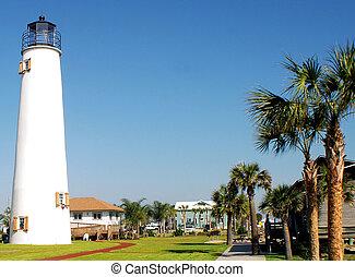 St George Light on the island of St George, Florida
