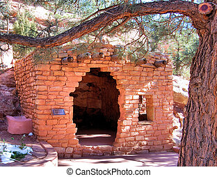 Hole in the Wall - View from the Native American Cliff...