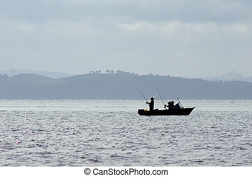 Fishing boat at the Bay of Islands New Zealand - BAY OF...