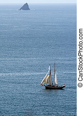 R.Tucker Thompson sails ship at the Bay of Islands New...