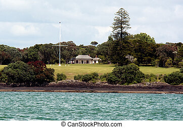Waitangi grounds at the Bay of Islands New Zealand -...