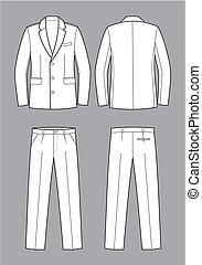 Business suit - Vector illustration of men's business...
