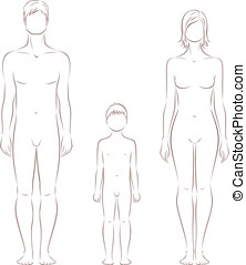 Human figure - Vector illustration of human figure. Man,...