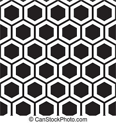 Honeycomb pattern - Vector illustration of seamless...