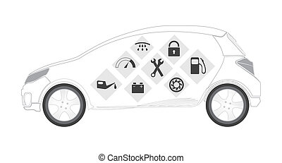Automotive services vector set