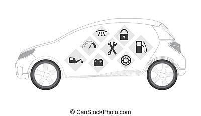 Automotive services vector set