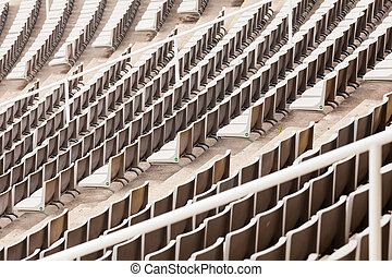 Empty grandstand of the big stadium