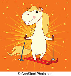 funny horse with stars