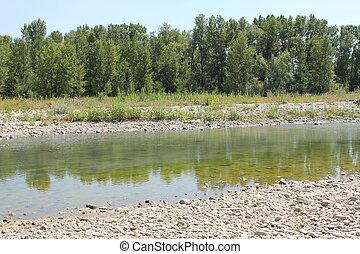 Fiume Marecchia (RN) - Vista del fiume Marecchia all'altezza...