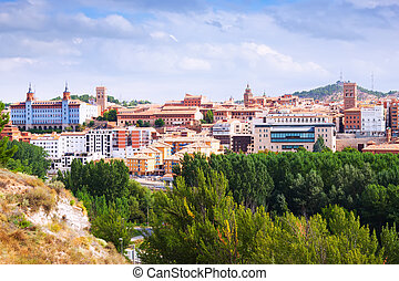 day view of Teruel with main landmarks Aragon