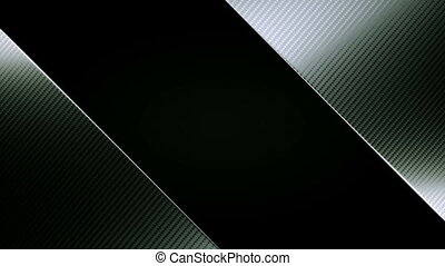 Carbon fibre diagonal leafs or folds opening with Alpha...