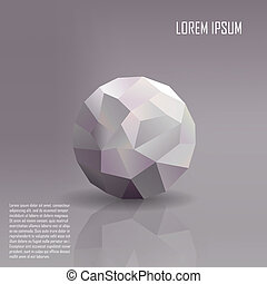 Geometric ball background vector